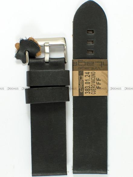 Pasek skórzany do zegarka - Diloy 383.24.1 - 24mm