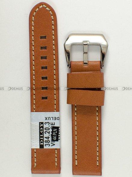 Pasek skórzany do zegarka - Diloy 384.20.3 - 20 mm