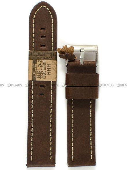 Pasek skórzany do zegarka - Diloy 384EL.24.2 - 24 mm
