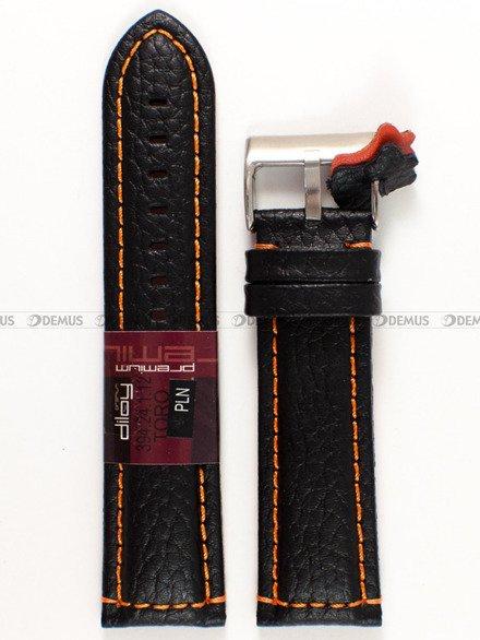 Pasek skórzany do zegarka - Diloy 394.24.1.12 - 24 mm