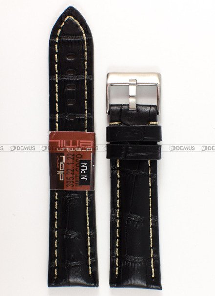 Pasek skórzany do zegarka - Diloy 395.22.1.22 - 22 mm
