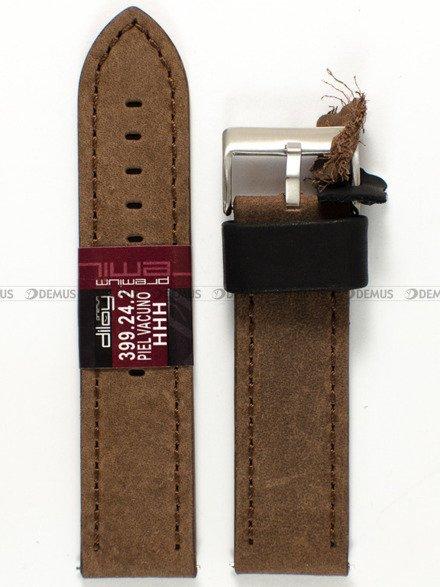 Pasek skórzany do zegarka - Diloy 399.24.2 - 24 mm