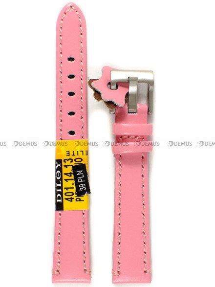 Pasek skórzany do zegarka - Diloy 401.14.13 - 14 mm