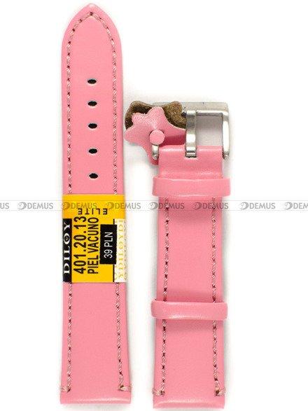 Pasek skórzany do zegarka - Diloy 401.20.13 - 20 mm
