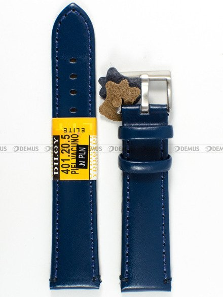 Pasek skórzany do zegarka - Diloy 401.20.5 - 20 mm