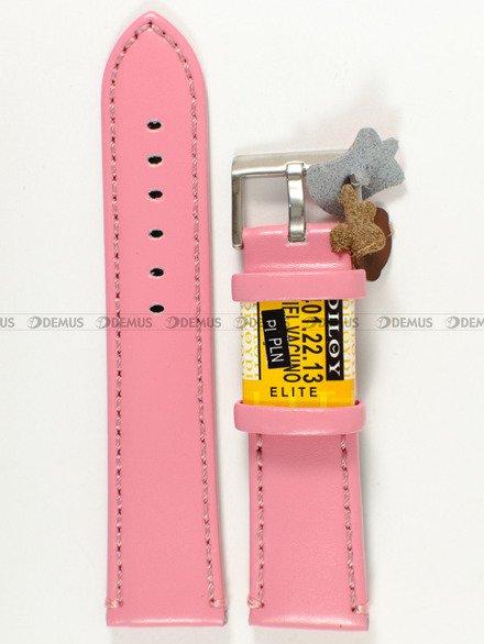 Pasek skórzany do zegarka - Diloy 401.22.13 - 22 mm