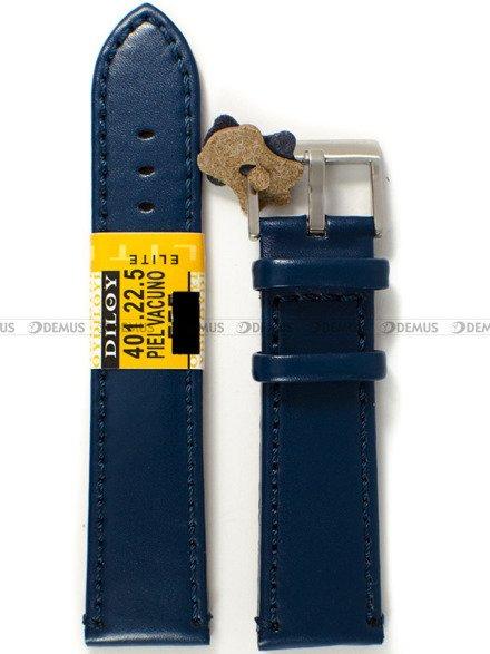Pasek skórzany do zegarka - Diloy 401.22.5 - 22 mm