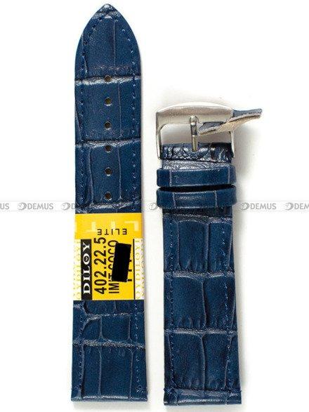 Pasek skórzany do zegarka - Diloy 402.22.5 - 22 mm