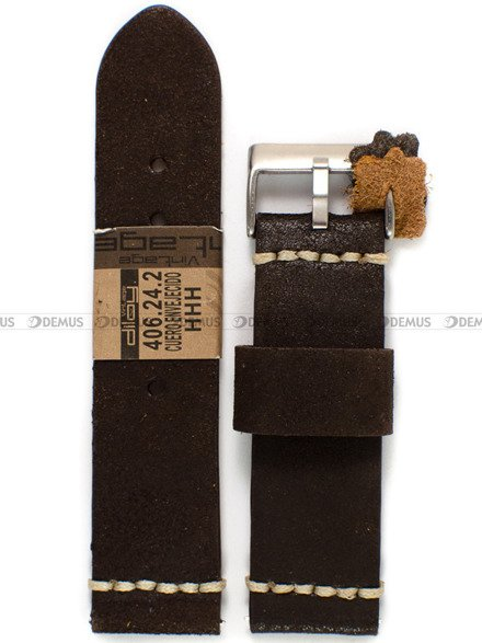 Pasek skórzany do zegarka - Diloy 406.24.2 - 24 mm