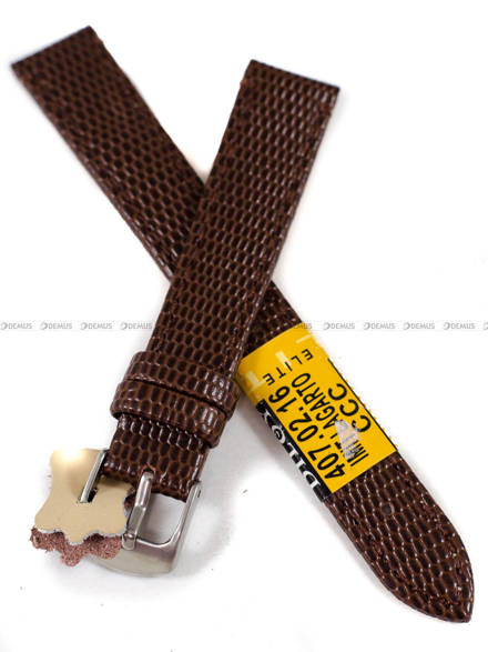 Pasek skórzany do zegarka - Diloy 407.16.2 - 16 mm