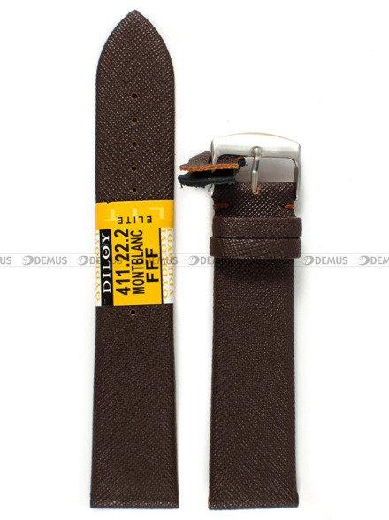 Pasek skórzany do zegarka - Diloy 411.22.2 - 22 mm