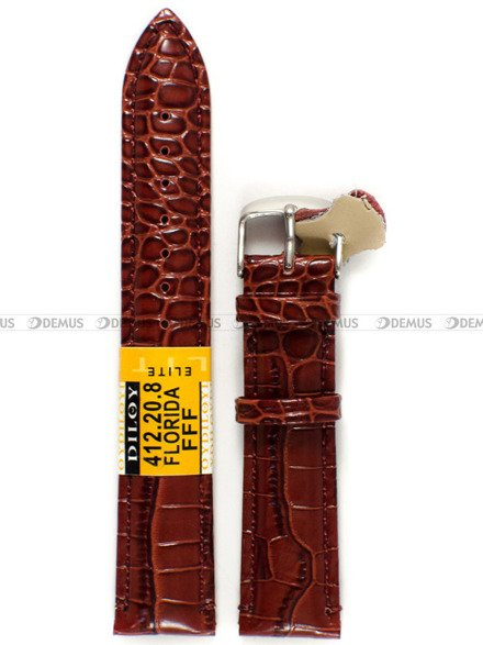 Pasek skórzany do zegarka - Diloy 412.20.8 - 20 mm