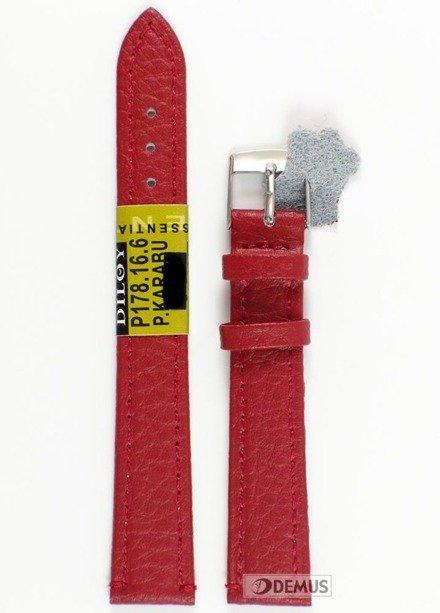 Pasek skórzany do zegarka - Diloy P178.16.6 - 16 mm