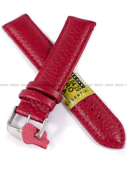 Pasek skórzany do zegarka - Diloy P205.20.4 - 20mm