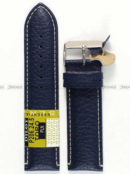 Pasek skórzany do zegarka - Diloy P206.24.5 - 24 mm