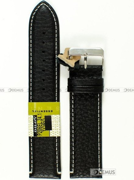 Pasek skórzany do zegarka - Diloy P206EL.24.1 - 24mm