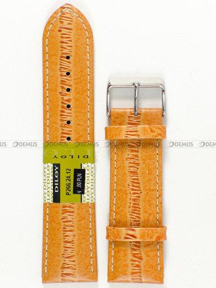 Pasek skórzany do zegarka - Diloy P266.24.12 - 24 mm