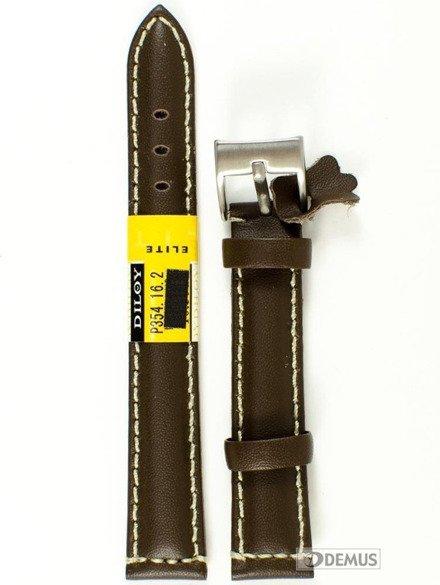Pasek skórzany do zegarka - Diloy P354.16.2 - 16mm