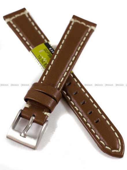 Pasek skórzany do zegarka - Diloy P354.16.8 - 16 mm