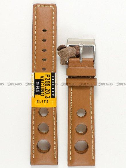 Pasek skórzany do zegarka - Diloy P355.20.3 - 20 mm