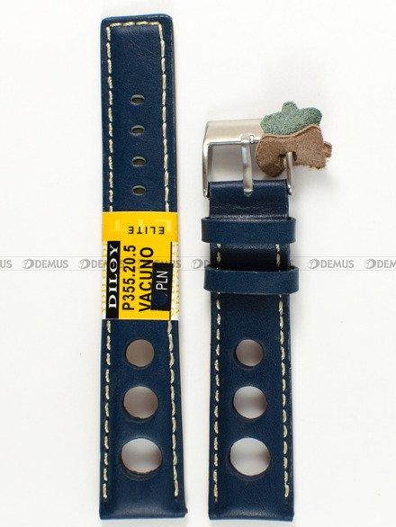 Pasek skórzany do zegarka - Diloy P355.20.5 - 20 mm