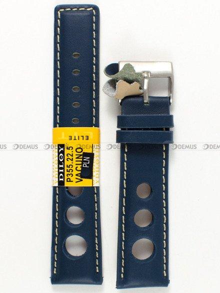 Pasek skórzany do zegarka - Diloy P355.22.5 - 22 mm