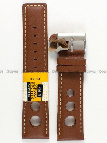 Pasek skórzany do zegarka - Diloy P355.24.8 - 24 mm