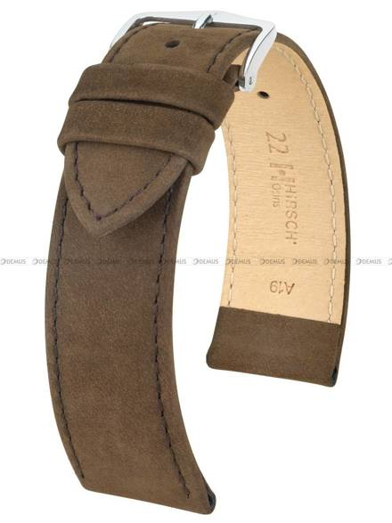 Pasek skórzany do zegarka - Hirsch Osiris 03433010-2-18 - 18 mm - L