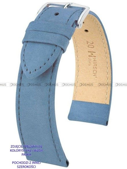 Pasek skórzany do zegarka - Hirsch Osiris 03433182-2-12 - 12 mm