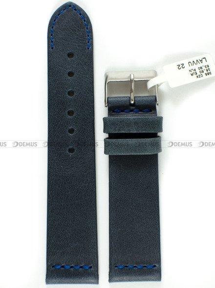 Pasek skórzany do zegarka - LAVVU LSLUL22 - 22 mm