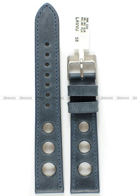 Pasek skórzany do zegarka - LAVVU LSMUL18 - 18 mm