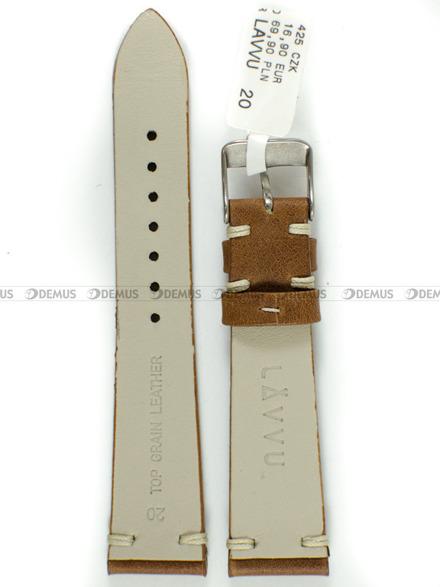 Pasek skórzany do zegarka - LAVVU LSNUE20 - 20 mm