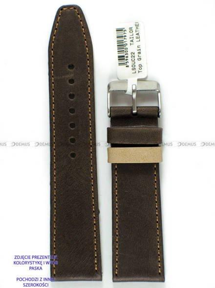 Pasek skórzany do zegarka - LAVVU LSOUC24 - 24 mm