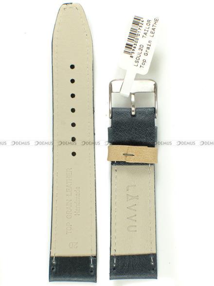 Pasek skórzany do zegarka - LAVVU LSOUL20 - 20 mm
