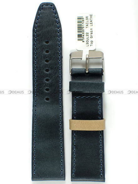 Pasek skórzany do zegarka - LAVVU LSOUL22 - 22 mm
