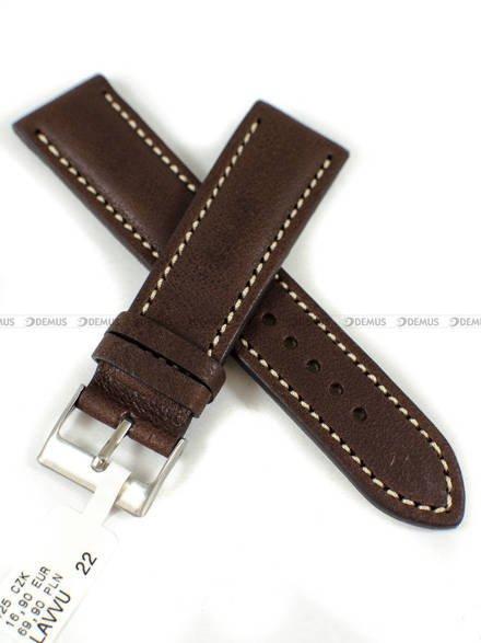 Pasek skórzany do zegarka - LAVVU LSRUC22 - 22 mm