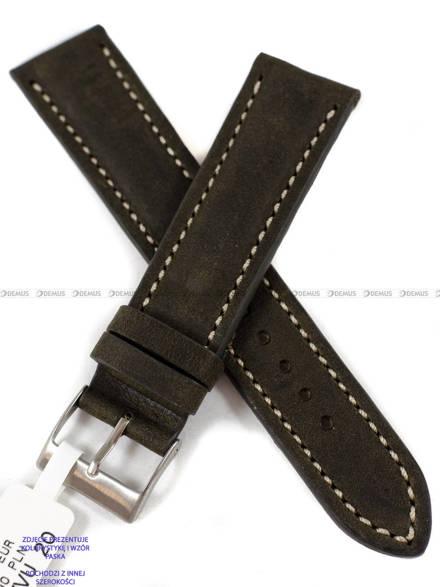 Pasek skórzany do zegarka - LAVVU LSRUG18 - 18 mm