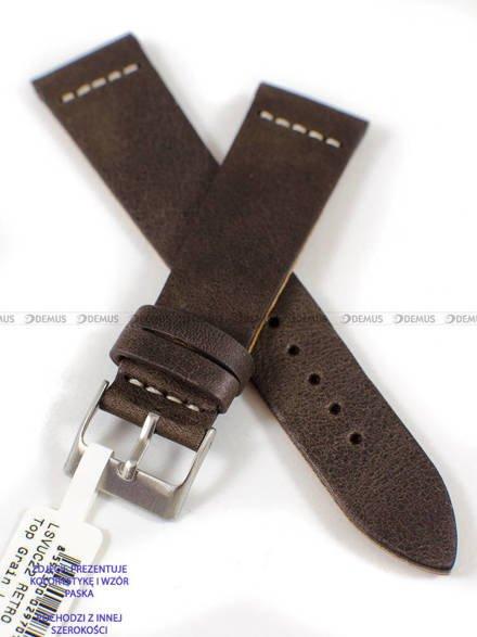 Pasek skórzany do zegarka - LAVVU LSVUC20 - 20 mm