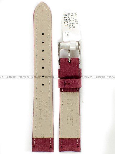 Pasek skórzany do zegarka - Minet MSNUB16 - 16 mm