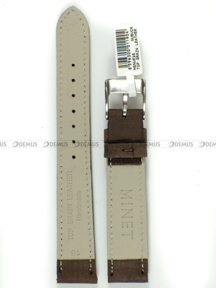 Pasek skórzany do zegarka - Minet MSNUE16 - 16 mm