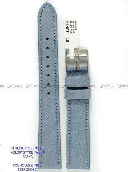 Pasek skórzany do zegarka - Minet MSNUJ20 - 20 mm