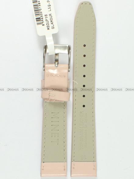 Pasek skórzany do zegarka - Minet MSOUP16 - 16 mm
