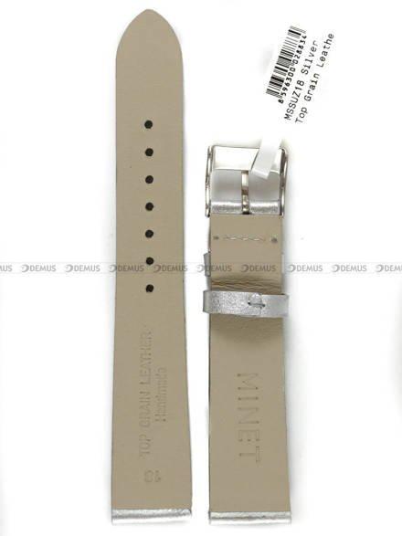 Pasek skórzany do zegarka - Minet MSSUZ18 - 18 mm