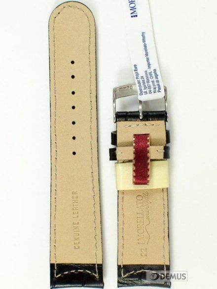 Pasek skórzany do zegarka - Morellato A01U3882A59019 22mm