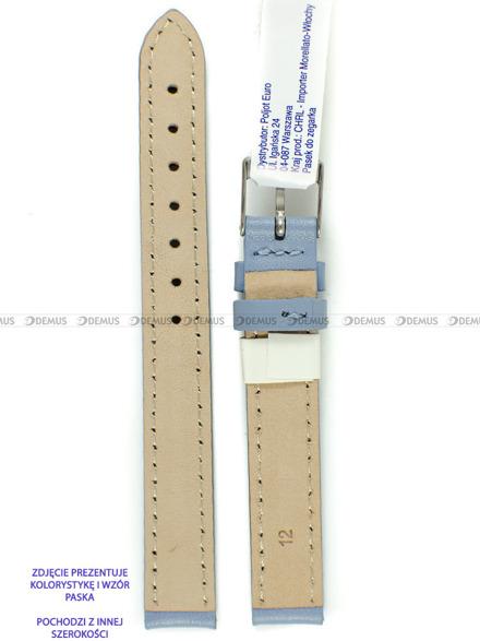 Pasek skórzany do zegarka - Morellato A01X0969087066CR18 - 18 mm