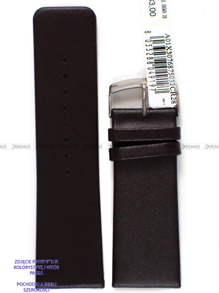 Pasek skórzany do zegarka - Morellato A01X3076875032CR24 - 24 mm