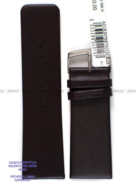 Pasek skórzany do zegarka - Morellato A01X3076875032CR26 - 26 mm
