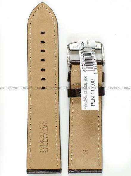 Pasek skórzany do zegarka - Morellato A01X4733480032CR24 - 24 mm