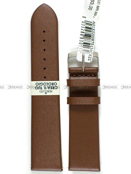 Pasek skórzany do zegarka - Morellato A01X5200875134CR22 - 22 mm