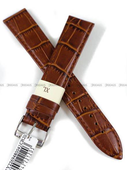 Pasek skórzany do zegarka - Morellato A01Y2269480041CR20 - 20 mm - XL